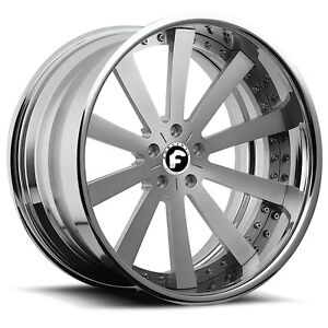 22 Inch Forgiato Concavo Wheels Rims Oldschool Cutlass Impala Regal Chevelle