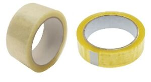 Heavy Duty Clear Sellotape Parcel Packing Tape 25mm 50mm X 66m 6 12 24 Rolls