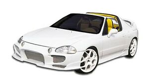 93 97 Honda Del Sol Duraflex Aggressive Front Bumper 1pc Body Kit 101244