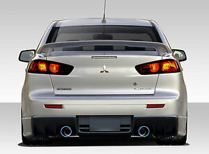 08 15 Mitsubishi Lancer Duraflex Evo X V3 Rear Bumper 1pc Body Kit 109415