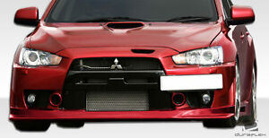 08 14 Mitsubishi Lancer Evolution 10 Duraflex Vr s Front Lip 1pc Body Kit 106875