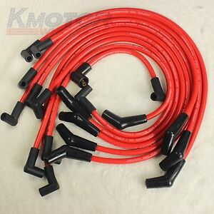Jdmspeed Racing Spark Plug Wires Set Red 10 5mm For Ford F 150 Mustang 5 8 5 0l