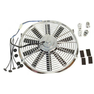 14 High Performance Radiator Cooling Fan Straight Chrome 12v 1900cfm