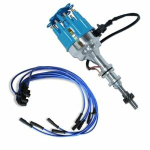 For Ford 351w 408w Billet Distributor 9 5 Mm Blue Straight Spark Plug Wires
