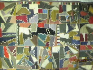 Atq Late 1800 S Crazy Quilt Hand Embroidered Velvets Wools Brocades Garbadines