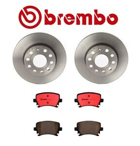 For Audi A3 Vw Jetta Rabbit Rear Disc Brake Kit Brembo Uv Coated Rotors And Pads