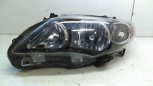 Toyota Corolla 09 10 Halogen Lh Driver Oem Headlight Lamp Assembly Parts D0268