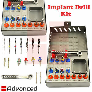 Dental Implant Surgery Conical Drills Kit Ratchet Drivers Surgery Instruments