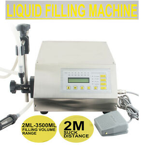 usa Ship automatic Digital Liquid Filling Filler Machine Micro computer Control