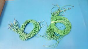 Heat Resistant Wire Green Color Lot Of 50pcs Of 4ft Long