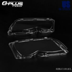 For Bmw E46 3 Series 4 Door 02 05 L R Headlight Headlamp Lense Clear Lens Cover
