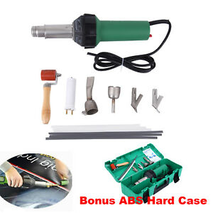 Hot Air Torch Plastic Welding Gun Welder Pistol 1600w 4 Speed Nozzle Roller