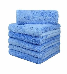 6 Pcs Carcarez Premium Microfiber Car Wash Drying Towels Professional Grade