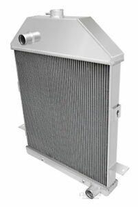 1941 Ford Truck Chevy Configuration 3 Row Aluminum Champion Radiator Cc41ch
