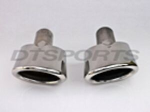 Pair Left Right Dt 24098 L r Buick Enclave Suv Oval Stainless Exhaust Tip New