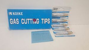 Box Of 5 New Old Stock Koike Gas Cutting Tips 106