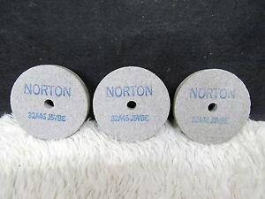 3 Norton Tool And Cutter Grinder Straight Wheels 32a46 J5ybe 3 X 1 2 X 3 8 Hol