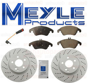 Meyle Front Brake Kit Mercedes Benz Ceramic Pads Coated Rotors Sensor New