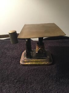Vintage Antique Fairbanks Cast Iron Scale Weighs Up To 34oz Mercantile Store