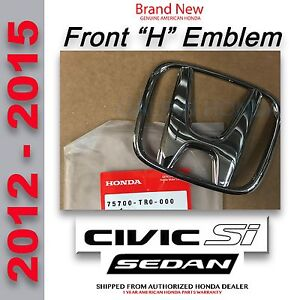 Genuine Oem Honda Civic Si Sedan Front H Emblem 2012 2015