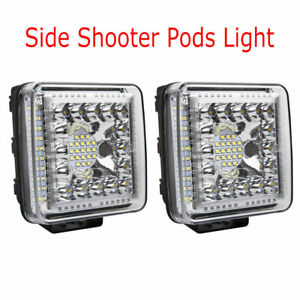 Pair 6 7inch 1344w Led Work Light Bar Spot Beam Offroad 4wd For Jeep Ford Truck