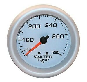 Engine Works 53203 2 5 8 Mechanical White Face Water Temperature Gauge 100 280