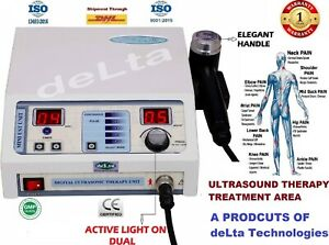 Most Selling Ultrasound Ultrasonic Therapy Machine For Pain Relief 1 Mhz Physio