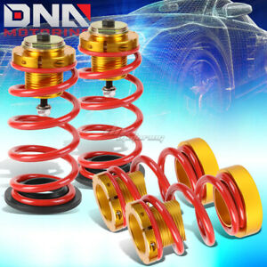 For 06 11 Civic 1 4 Adjustable Suspension Coilover Sleeve Kit W red Spring