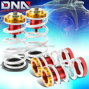 For 12 15 Civic 1 4 Adjustable Suspension Coilover Sleeve Kit W White Spring