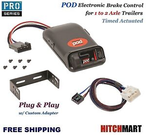 Pod Trailer Brake Control W Custom Adapter For 2016 2017 Tacoma 15 17 Tundra
