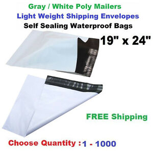 19 x 24 Poly Mailers Shipping Envelopes Self Sealing Plastic Large Mailing Bags