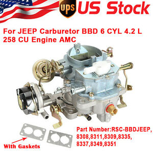 Rsc bbdjeep Carburetor For Jeep Bbd 6 Cyl 4 2 L 258 Cu Engine Amc Cj5 Cj7 2bbl