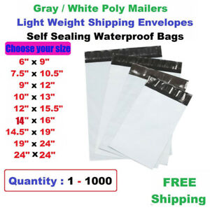 Wholesale Poly Mailers Shipping Envelopes Self Sealing Plastic Mailing Bags Grey