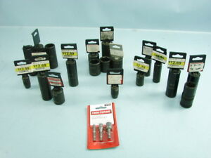 Lot Of 24 Craftsman Sockets Wrench Ratchet Attachments 7 16 3 8 1 1 16 1 2