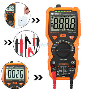 Lcd 6000counts Digital Multimeter Auto Range True Rms Ac dc Volt Ohm Temp Tester