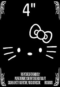 Hello Kitty Head Face Bow Vinyl Decal Car Truck Wall Laptop Sticker Decals White
