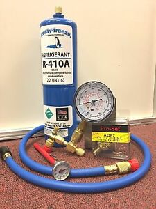 R410 R410a A C Recharge Kit 28 Oz W Check Charge It Gauge Thermometer