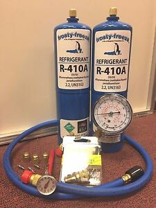 R410 R410a Refrigerant Recharge Kit Pocket Therm Cores Cap A c System