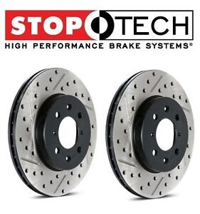 For 4 Runner Set Of Front Left Right Drilled Slotted Brake Discs Stoptech