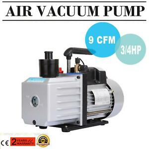Electric 9 Cfm Rotary 3 4hp Air Vacuum Pump Hvac Refrigerant Conditioning A c