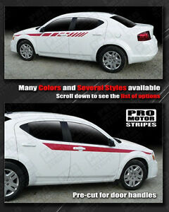 Dodge Avenger Racing Side Arrow Accent Stripes Decals 2011 2012 2013 2014