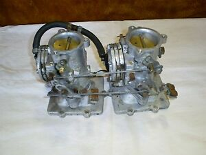 Tillotson Hd14a Hd 14a Dual Carb Set Up With Manifold And Linkage Used