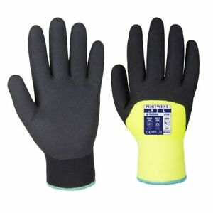 Portwest A146 Arctic Winter Thermal Lined Cold Working Gloves Hi Vis Colour