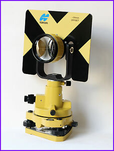 New Yellow Topcon Metal Single Prism Set W Soft Bag For Topcon Total Stations