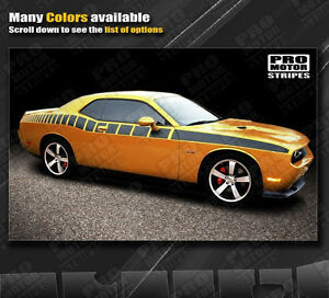 Dodge Challenger Strobe Racing Side Stripes Decals 2011 2012 2013 2014 Pro Motor