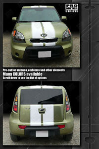 For Kia Soul Over Top Sport Double Stripes Decals 2008 2009 2010 2011 Pro Motor