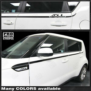 For Kia Soul Side Thin Accent Stripes Decals 2014 2015 2016 2017 2018 2019