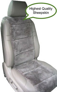 Sheepskin Seat Covers Australian One Seat Vest Insert Steel Grey Best Quality