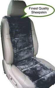 Sheepskin Seat Covers One Seat Vest Insert Finest Quality Australian Charcoal