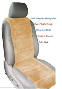 Sheepskin Seat Covers One Seat Vest Insert Best Quality Australian Sand Color